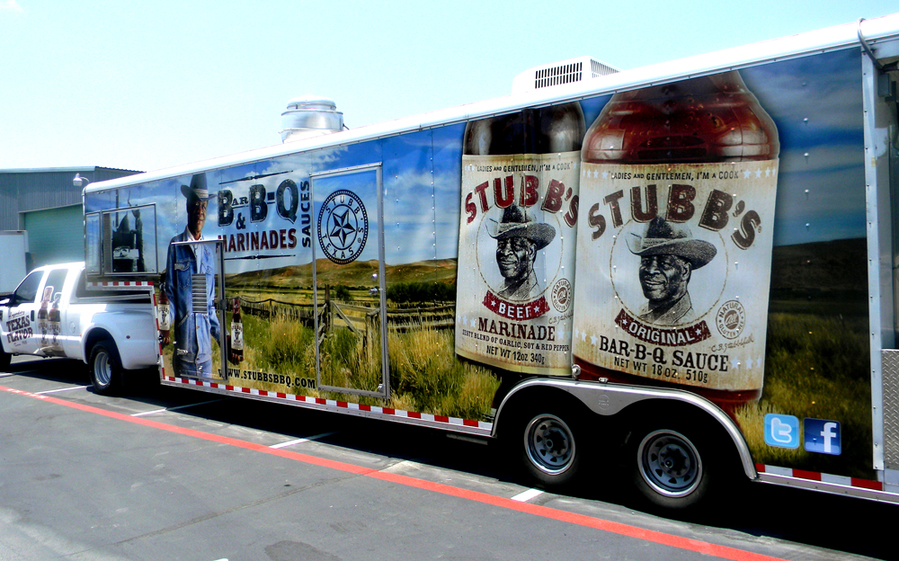 Our wraps for stubb s b b q truck and trailer artwork by liz berry